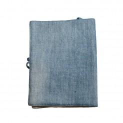 Подвързия за книга с шевица • синя