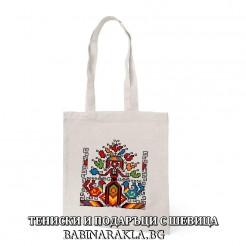 Памучна чанта с шевица 013