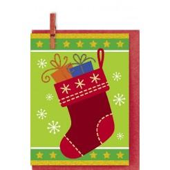 Картичка Бижу Коледни подаръци