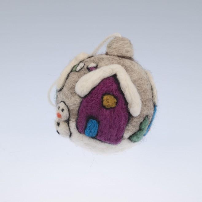 Коледна топка Снежно селце