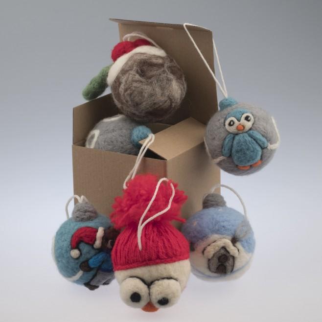 Коледна топка Къщички