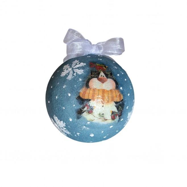 Коледна топка Снежен Котарак