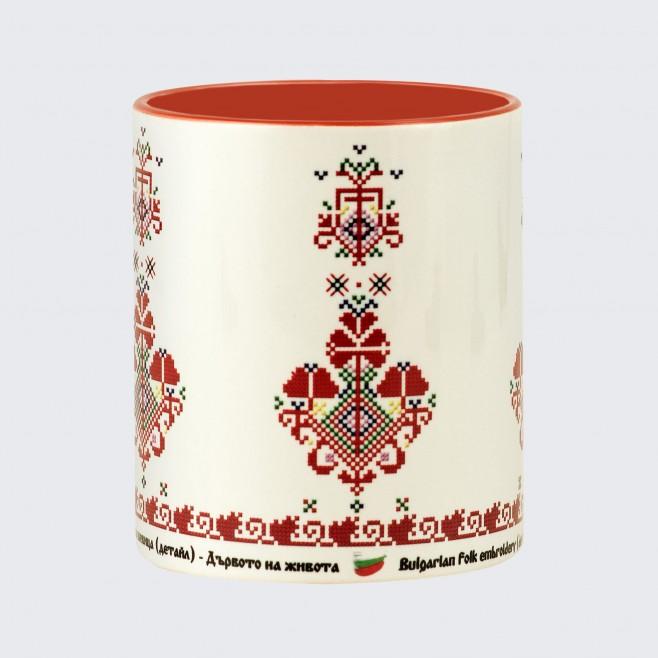 Чаша с Шевица Дървото на Живота • модел 2 • червена