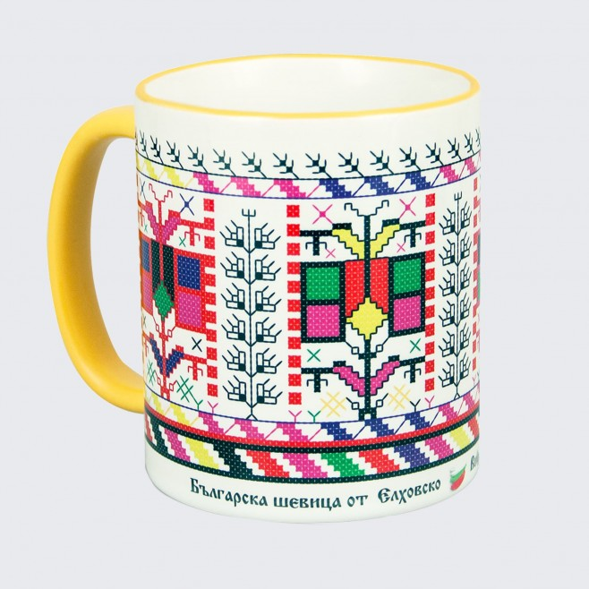 Чаша с шевица от Елхово • Дървото на Живота • бяла