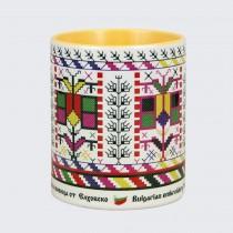 Чаша с Шевица от  Елхово • Дървото на Живота  • жълта