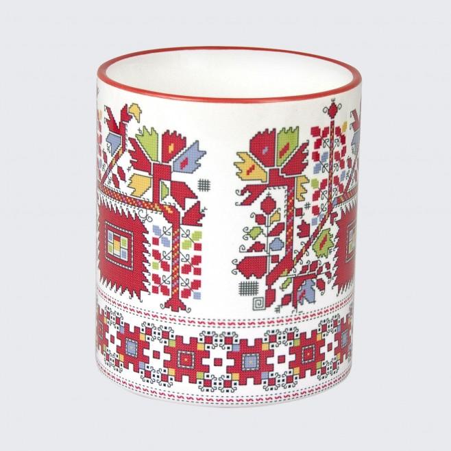 Чаша с Шевица от Граовско • Цветна градина • бяла