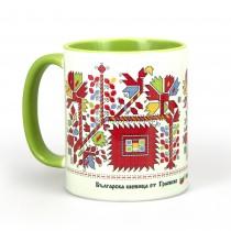Чаша с Шевица от Граовско • Цветна Градина • зелена