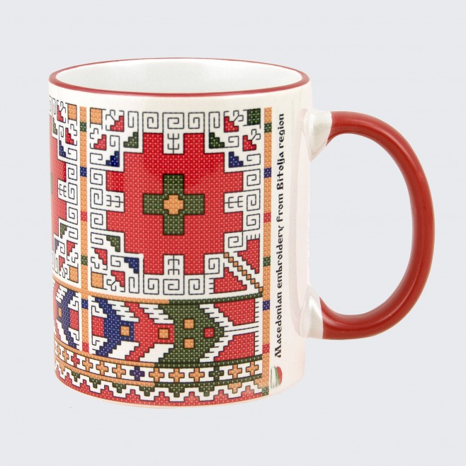 Чаша с Българска Македонска Шевица от Костур