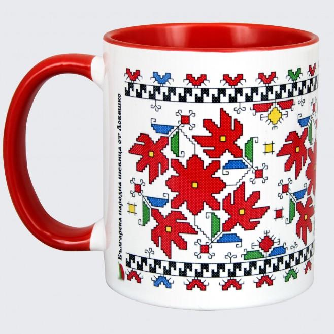 Чаша с Шевица от Ловеч • червена