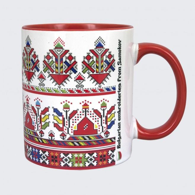 Чаша с Шевица от Самоков • модел 2 • червена