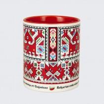 Чаша с Шевица от Софийско • Двуглав кон с ездачка, червена