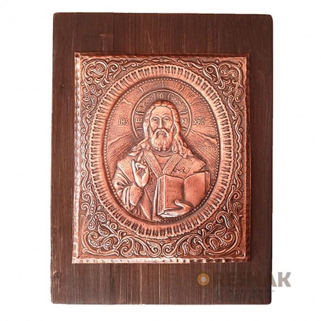 Медна Икона Исус Христос - Голяма