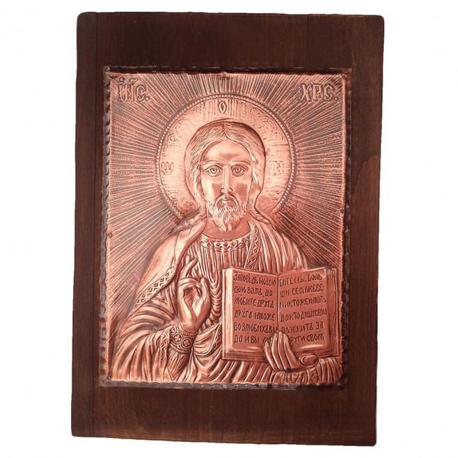 Медна Икона Христос Пантократор - Голяма
