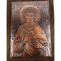 Медна Икона Св. Панталеймон - Голяма