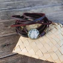 Гривна Баланс с родопски планински кристал