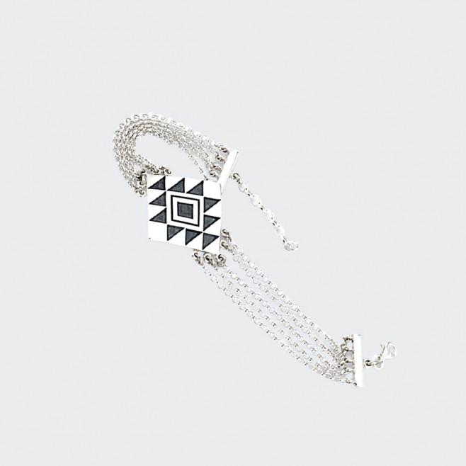 Сребърна гривна Канатица