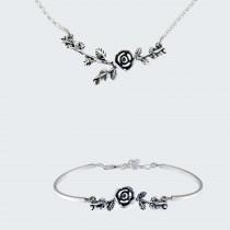 Сребърен комплект Роза