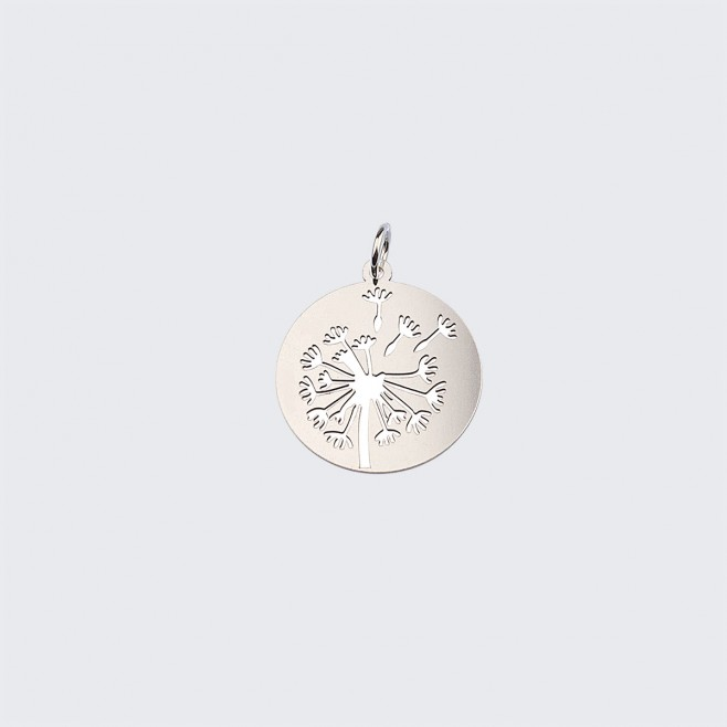 Сребърен медальон Глухарче