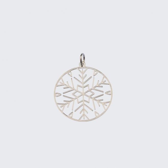Сребърен медальон Снежинка