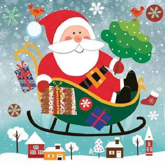 Коледни Салфетки Дядо Коледа