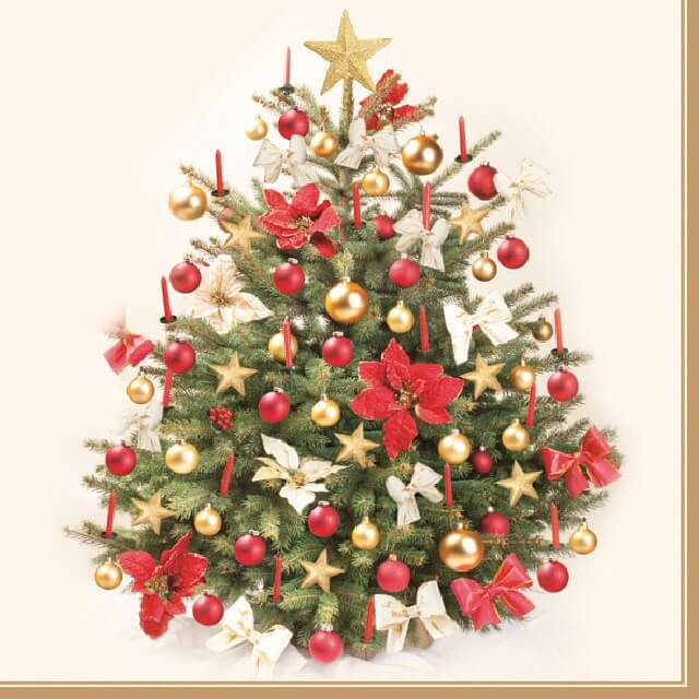 Коледни Салфетки Елха