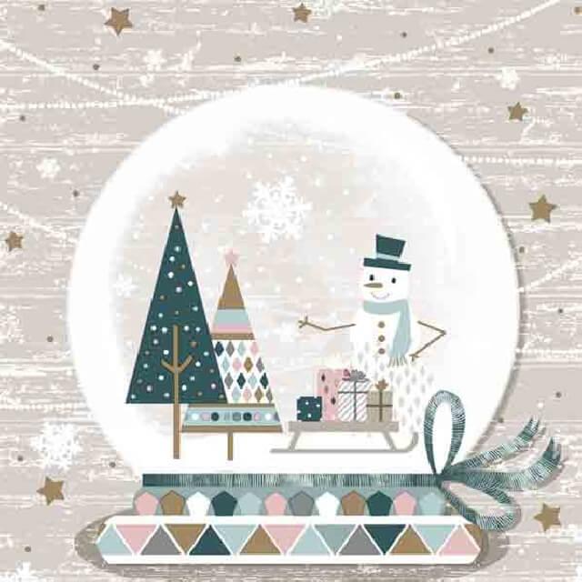 Коледни Салфетки Снежен човек