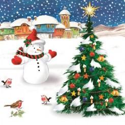 Салфетки Коледна Светлина