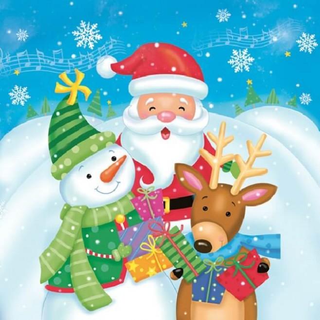 Салфетки Коледна песен