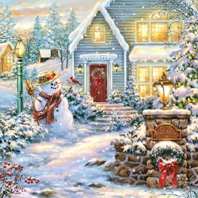 Салфетки Коледна приказка