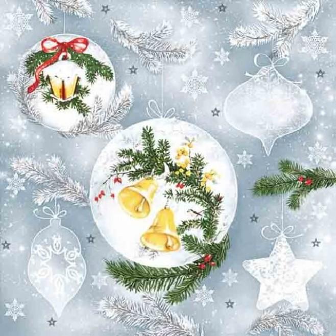 Салфетки Коледни играчки
