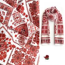 Копринен шал с шевица Веска Оригинал 160*45