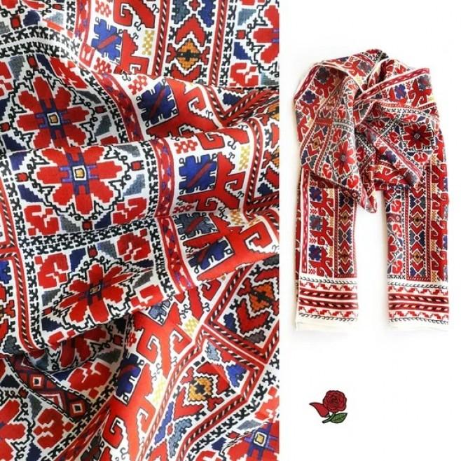 Копринен шал с шевица Донка 160*45
