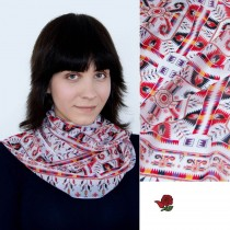 Дамски шал с шевица Мария, шифон 160x45