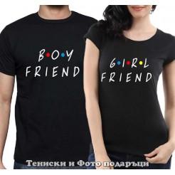 "Комплект Тениски за двойки и влюбени ""BoyFriend and GirlFriend"""