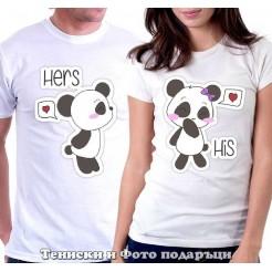"""Комплект Тениски за двойки и влюбени """"Hers/His"""""""