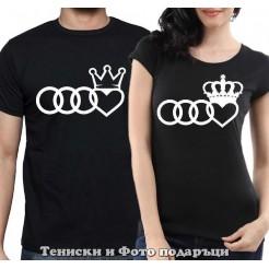 """Комплект Тениски за двойки и влюбени """"King and Queen"""" 2"""