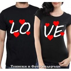"""Комплект Тениски за двойки и влюбени """"Love"""""""