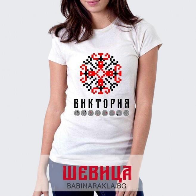 Дамска тениска с шевица ВИКТОРИЯ