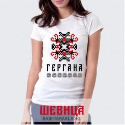 Дамска тениска с шевица ГЕРГАНА