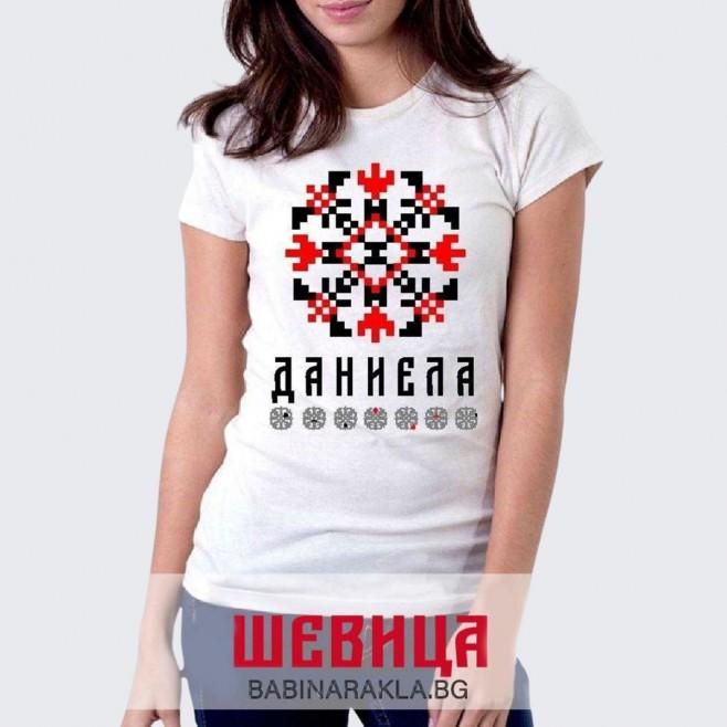 Дамска тениска с шевица ДАНИЕЛА