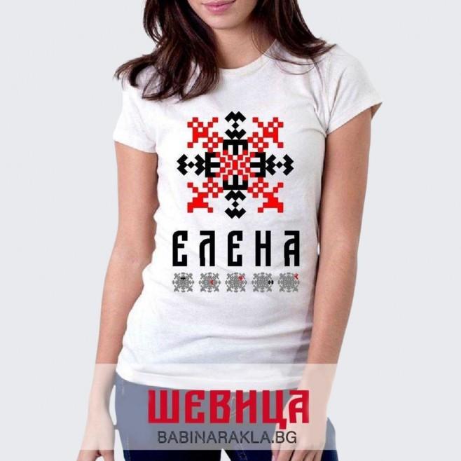 Дамска тениска с шевица ЕЛЕНА