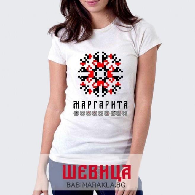 Дамска тениска с шевица МАРГАРИТА