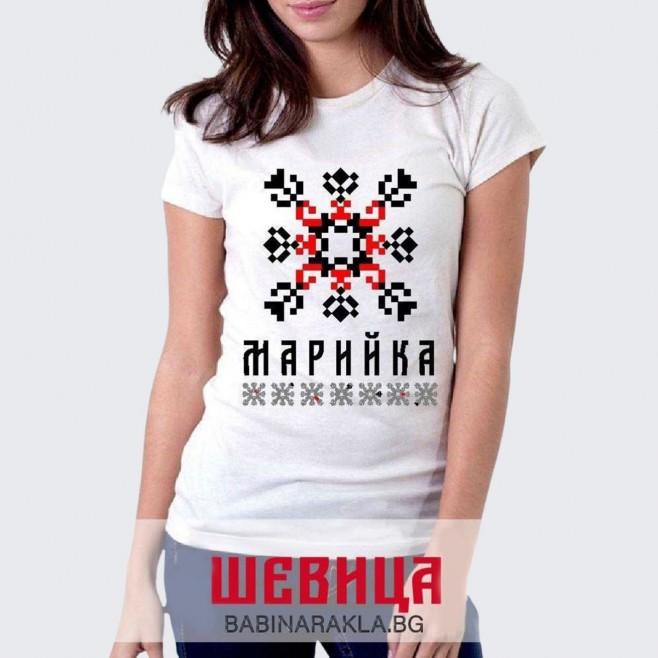 Дамска тениска с шевица МАРИЙКА