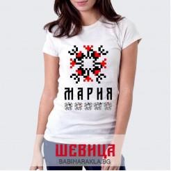Дамска тениска с шевица МАРИЯ