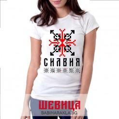 Дамска тениска с шевица СИЛВИЯ