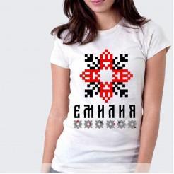 Дамска тениска с шевица ЕМИЛИЯ
