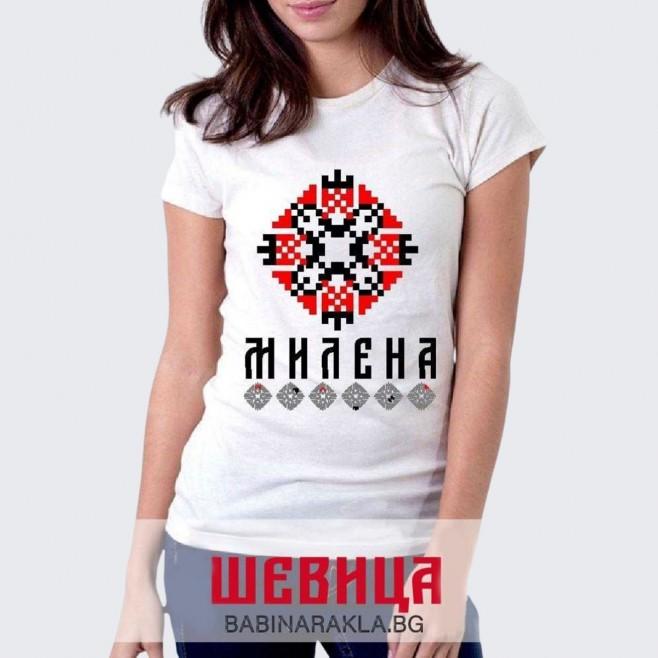 Дамска тениска с шевица МИЛЕНА