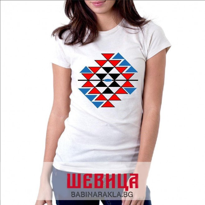 Дамска тениска с шевица - канатица, 025