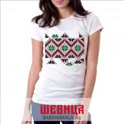 Дамска тениска с шевица 001