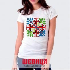 Дамска тениска с шевица 006